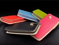 wholesale 2013 new style women purse genuine leather wallet   fashion  women's purse  free shipping