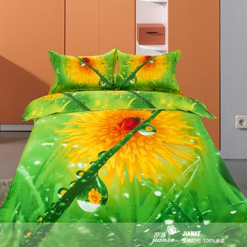 Home textile bedding 100% slanting stripe cotton active 3d stereo new arrival piece set
