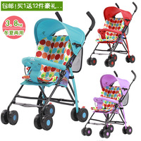 Colorful ultra-light portable dual-use folding baby stroller simple fashion summer baby four wheel car umbrellas