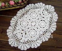 30x45cm hand crochet table mats for home wedding decor hand made doilies Free Shipping