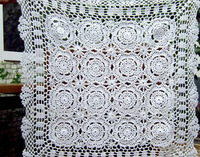 60x60 cm white crochet tablecloth handmade table linen Free Shipping!!!