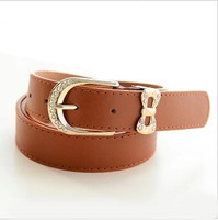 2013 fashion  genuine leather strap female pigskin thin belt women's belt FREE SHIPPING