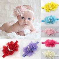 2013 New hot 10 colors Baby headband - Infant headband - Chiffon Flower headband three color new Design free shipping