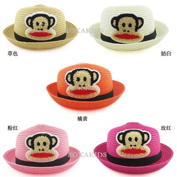 Free shipping wholesale fashion Animals style baby boy & baby girls' bucket caps summer hat children's  sun cap beach hats