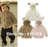 2014 new baby children fleece coat hoody kids warm animal model coat outwear clothes