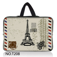 "Paris Eiffel Tower 15"" Laptop Carrying Bag Sleeve Case Pouch For 15.6"" DELL XPS 15,DELL Inspiron 15"