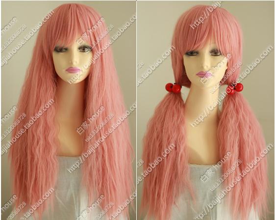 Free shipping, 2013 new wig high quality anime cartoon characters Honey pink long curly hair bohemia lolita cos wig girls(China (Mainland))