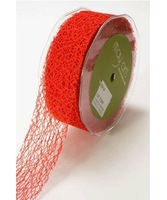 Hot Sale 50mm Mesh Style Crafting Net Ribbon 25 Metre Rolls - Mixed 5 Colours Wholesale