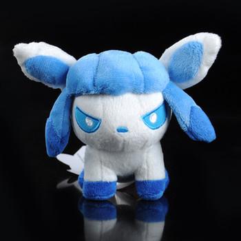 "New Pokemon Plush Glaceon Pokedoll Minky 5.5"""