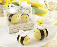 Wedding gifts lovebird bees bride and groom salt and pepper pot spice jar wedding gift