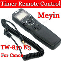 MEYIN TW-830/N3 Cable Timer Remote Control For Canon 50D 40D 30D 20D 7D 6D 1DS 1D 5D Mark III 5D Mark II 1Ds +Freeshipping