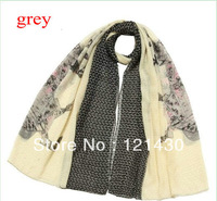 2013 Women's Big Horse Print Scarf Large Chiffon Design Shawl Wholesale Size:180*100cm Autumn Or Winter 4Colors For Option