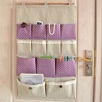Zakka fluid storage bag multi-layer fabric bag wall door after the bag sorting bags big size 46*73cm