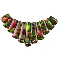 F0087  Free Shopping Beautiful Romantic Sea Sediment Jasper&Pyrite Jasper pendant bead 11pcs/lot