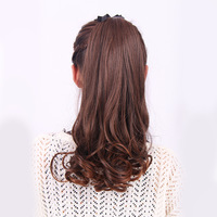 Wholesale Imitation human made Wig long pear lacing horseshoers