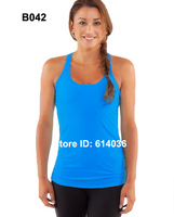 New Arrival!! Lululemon Womens Blue Vest Racer Back Top Tank Vests Wholesale Price for Big Order Free Shipping Any 15pc by EMS !