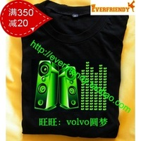 Sound music t-shirt light clothes t-shirt equalizer t-shirt133