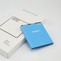 2 pc/lot 100% guarantee original for zopo 500 zp500 original battery 1300ma lithium ion battery  free shipping