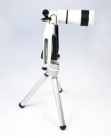 Zallars 8X Zoom Telephoto Long Focal Camera Lens Tripod for A P P L E P H ONE4 (BLACK, WHITE)