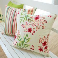100% cotton pillow cushion cover pillow cover sofa cushion white yellow bolster