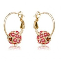 Accessories sparkling diamond cherry sphere crystal earrings - primrose a07 (can mixture order)