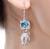 Popular fashion crystal accessories crystal earrings - earring a34 gift (can mixture order)