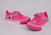 Free shipping 2013 new children's kids shoes for girls leopard sneakers strawberries children platform sneakers school shoes 24