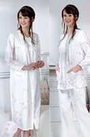 Malacca village ash nursing sleepwear month of clothing sleepwear set dresses