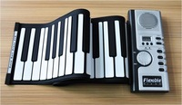 61 Keys USB Silicon Flexible Roll Up Electronic Piano MIDI Keyboard Musical Instrument Portable Electronic Organ Free Shipping