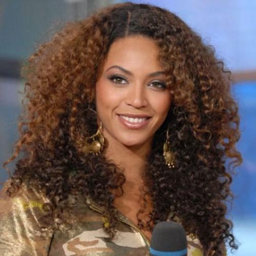 150% density curly two tone hair layered beyonce wig(China (Mainland))