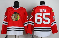 stable stock factory price #65 SHAW  red men's Ice hockey Jersey Chicago Blackhawks designers hockey Jersey size M-XXXL