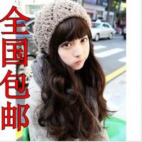 Wire wig qi bangs fluffy jumbo natural long curly hair repair girls