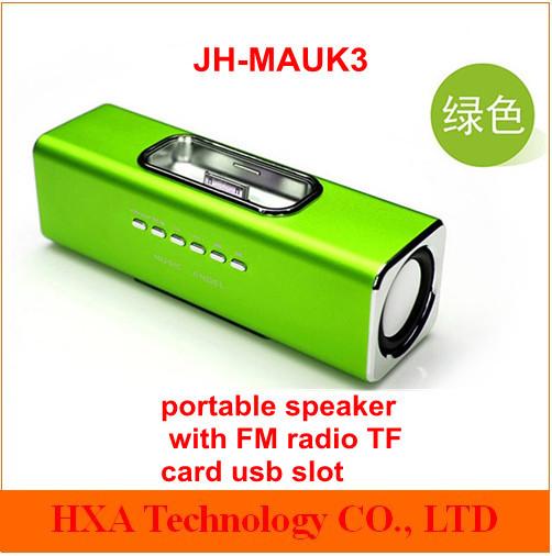 mini speaker JH-MAUK3 Straight insert MP3,MP4,CD,DVD,Computer,IPOD,mobile phone,FOR IPHONE, U disk, TF card 10pcs/lot(China (Mainland))