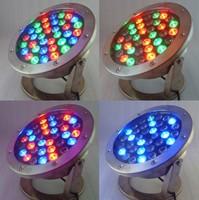 36W 12v vs 85-265v underwater RGB Led Light 3600LM Waterproof IP68 fountain pool Lamp