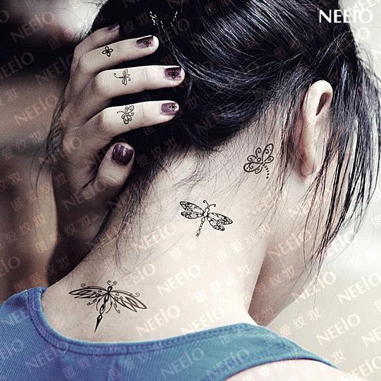 Temporary tattoos dream darning needle neeio neck wrist for Wrist tattoo prices