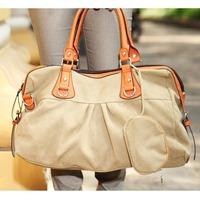 2013 women's handbag canvas bag one shoulder cross-body handbag fashion shell bags school bag