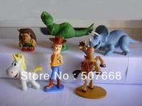 6pcs/set Big Size TOY STORY 3 BUZZ LIGHTYEAR WOODY Figures toy story figures