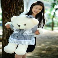 Crazy girl * hot sales   2012 plush teddy bear cloth doll puppet bear doll