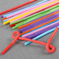 21cm*0.6cm art straw suckpipe multicolour 100 double bend art straw hookah drink straw