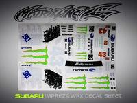 Stm-racing SUBARU IMRREZA WRX 10   DECAL SHEET  PC201006B-1   1:10 eletronic touring car