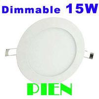 15W down lamp Dimmable 2835SMD Round Slim led panel ceiling lights Brightness adjustable 12V 110V 220V 4500K Free Shipping 2pcs