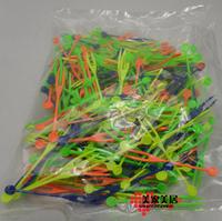 8cm Disposable fruit needle multicolour fruit plastic fruit fork