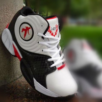2012 male high sport shoes color block decoration basketball shoes leather waterproof basketball shoes