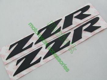 Freeshipping Fairing kit Side decals Stickers 3D EMBLEM GENUINE OEM for KAWASAKI Ninja ZZR Black color
