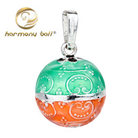 B8 Fashion Jewelry Dropshipping 1pc 925 Silver colorful Harmony ball bell ringing chime Pendant 20MM for preg women