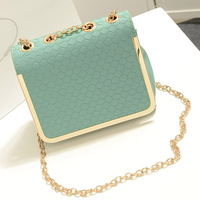 Free shipping 2013 small messenger bag vintage candy color shaping women's handbag chains shoulder strap messenger bag