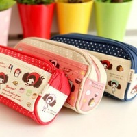 Prayuth a142 girl pencil case small fresh pen curtain large capacity canvas wash bag 56g
