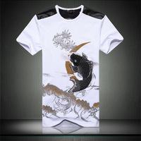 Summer male carousingly cotton short-sleeve 100% T-shirt slim plus size round neck T-shirt
