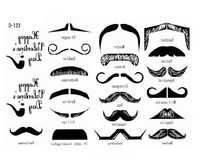 2013 New Tattoo sticker,D-123  beard  whiskers moustache design tattoo sticker, 100pcs  Wholesale ,Free shipping