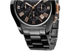 New AR1400 1400 AR1410 1410 AR1413 AR1446 AR1457 Ceramic Sports Chronograph Men's Watch Gents Wristwatch + Original Box